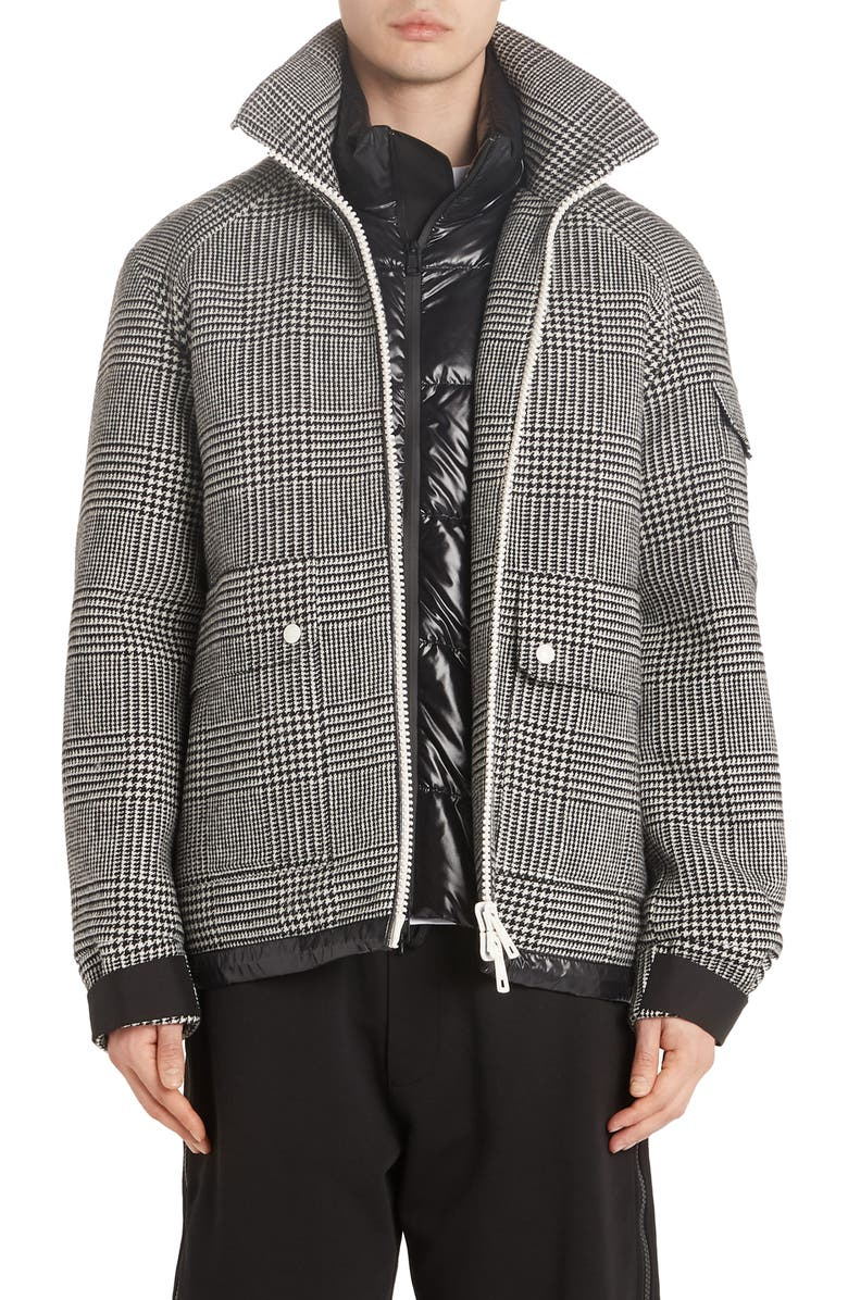 Blin Check Wool Down Jacket by Moncler