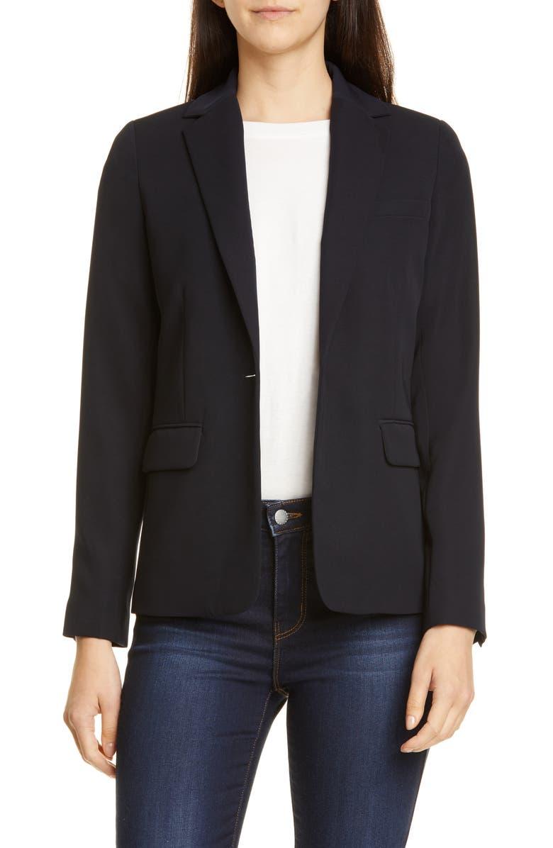 VINCE Single Button Blazer, Main, color, COASTAL