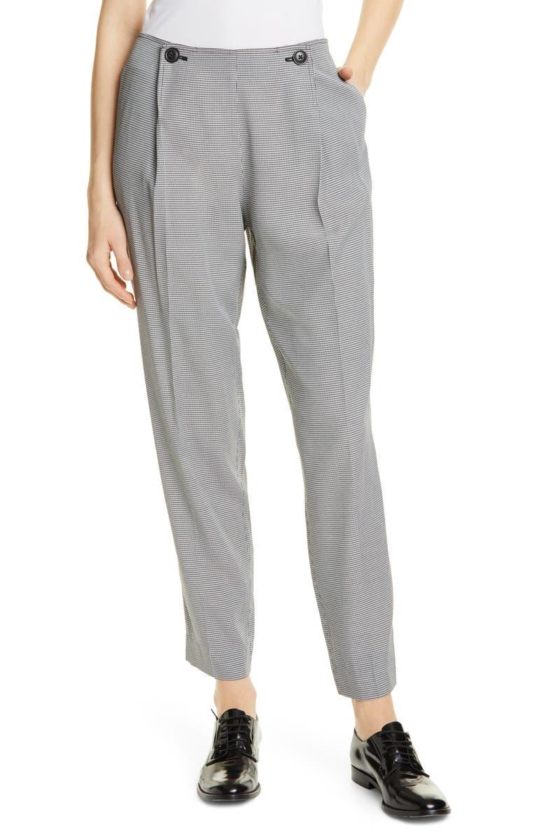 JASON WU Mini Check Soft Suit Pants, Main, color, 100
