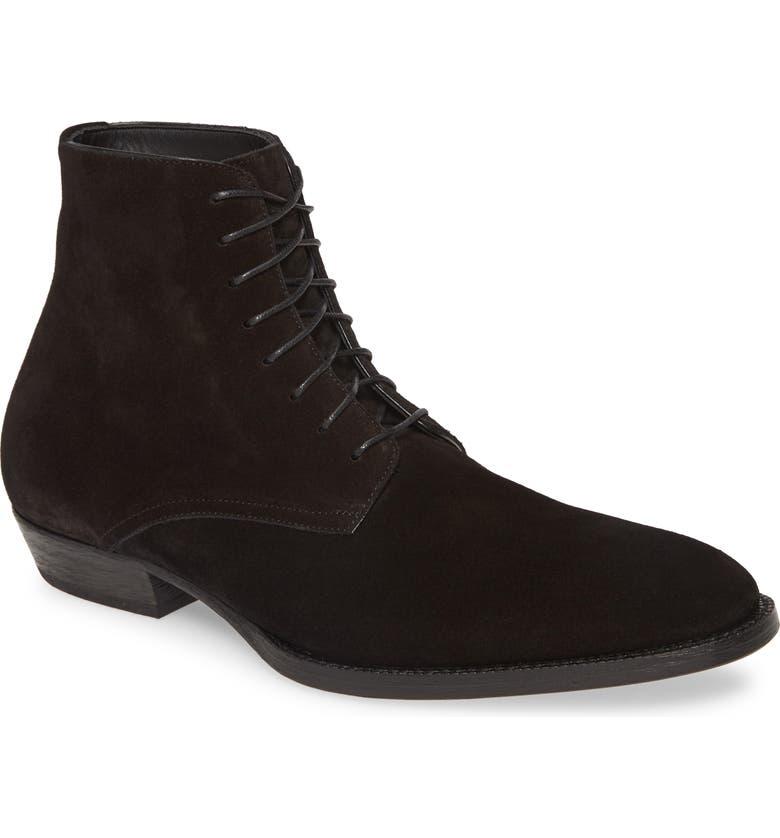 SAINT LAURENT Wyatt Plain Toe Boot, Main, color, NERO