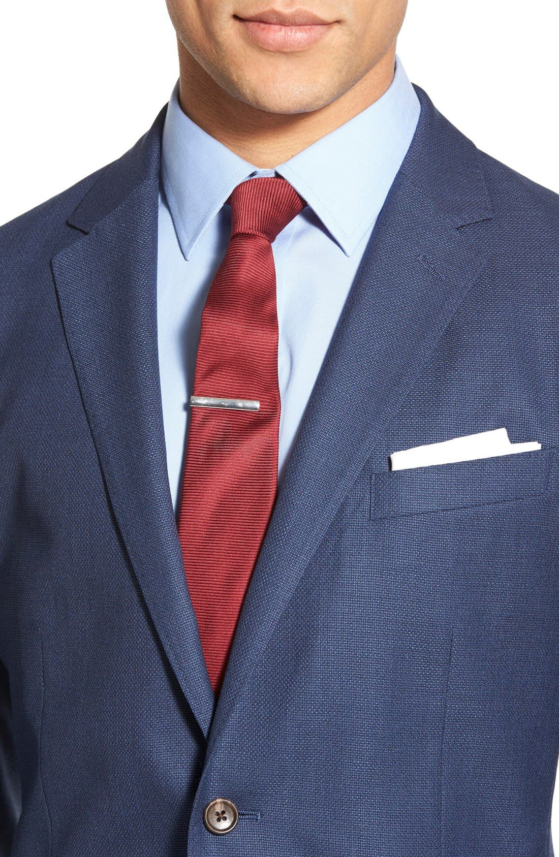 ,                             Slim Fit Wool Unconstructed Sport Coat,                             Alternate thumbnail 11, color,                             BLUE