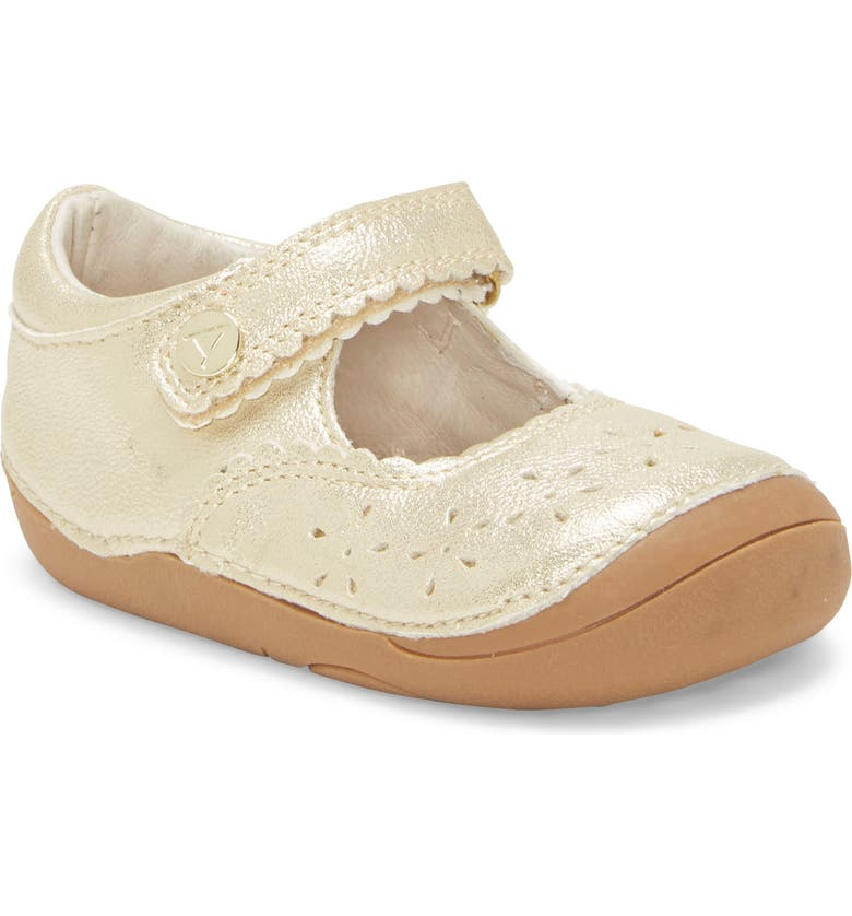 SOLE PLAY Gabbai Sparkle Mary Jane Sneaker, Main, color, SOFT GOLD