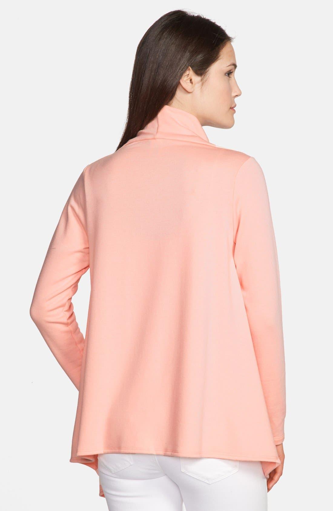 ,                             One-Button Fleece Wrap Cardigan,                             Alternate thumbnail 237, color,                             950