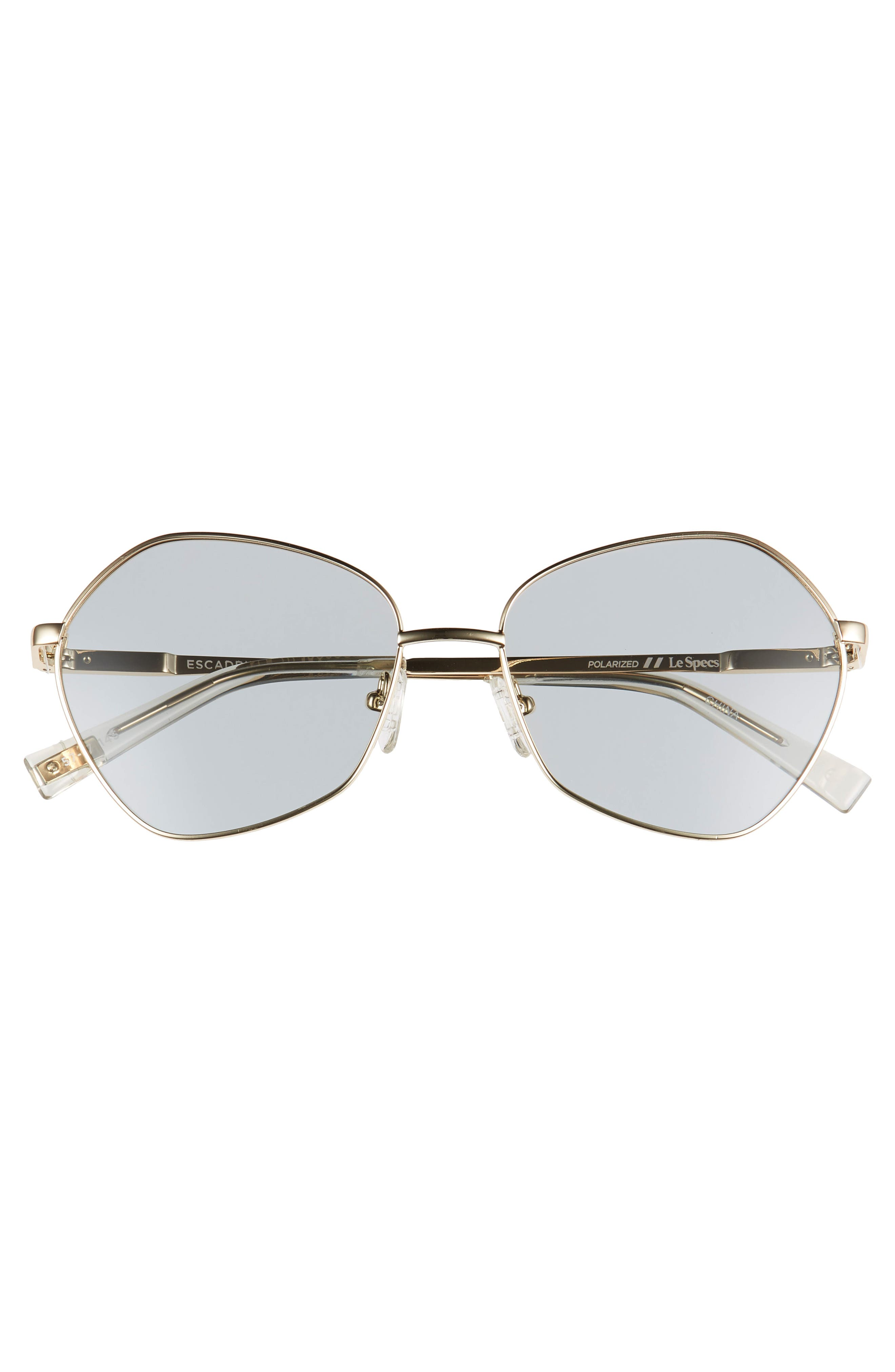,                             Escadrille 57mm Polarized Angular Sunglasses,                             Alternate thumbnail 3, color,                             GOLD/ GREY TINT