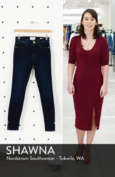 Le High Slit Hem Skinny Jeans, sales video thumbnail