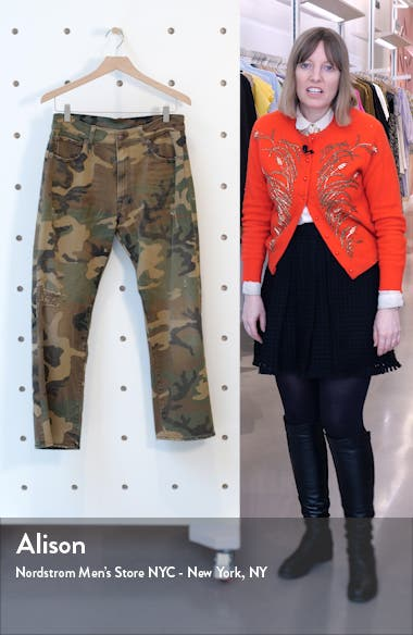 Camo Print Boyfriend Jeans, sales video thumbnail