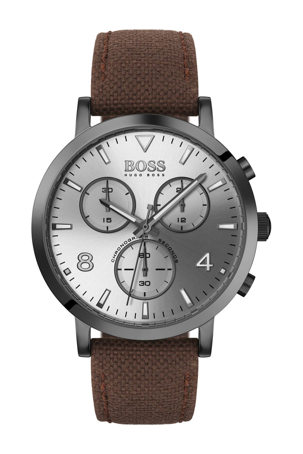 Image of BOSS Men's Spirit Leather Strap Watch, 42mm