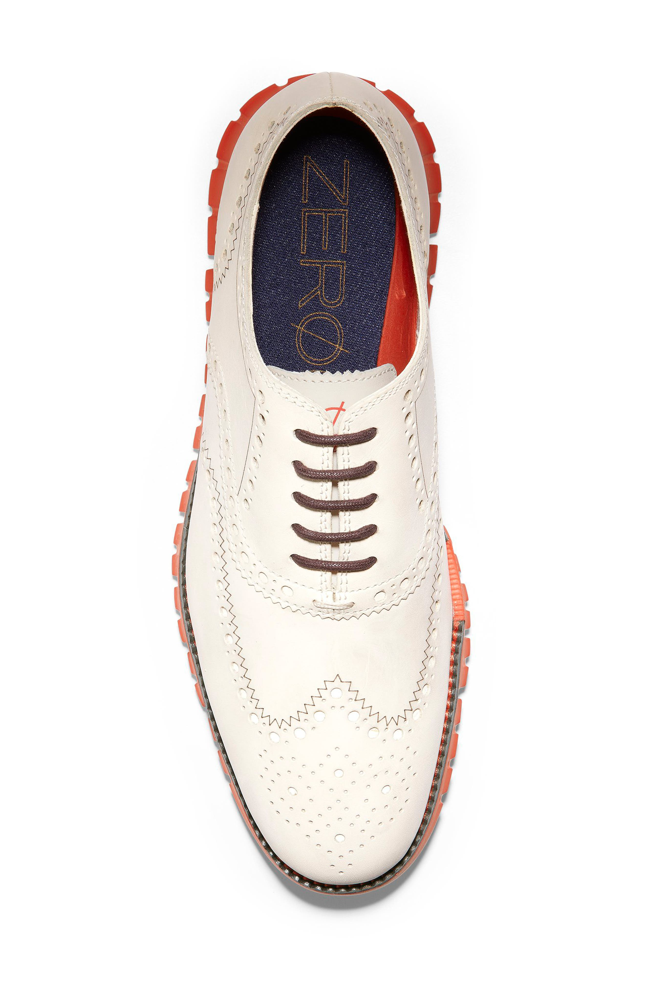 ,                             'ZeroGrand' Wingtip Oxford,                             Alternate thumbnail 5, color,                             IVORY LEATHER/ DARK ROAST