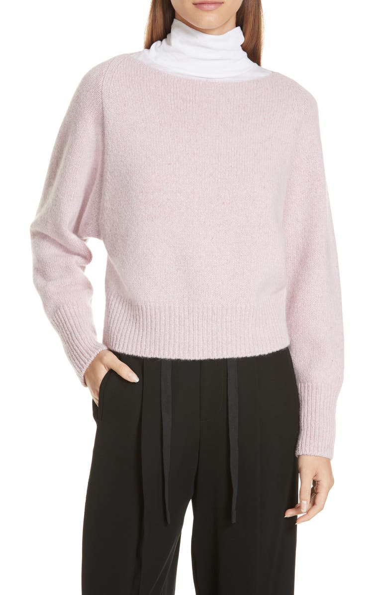 VINCE Cashmere Boatneck Sweater, Main, color, PINK CHAMPAGNE