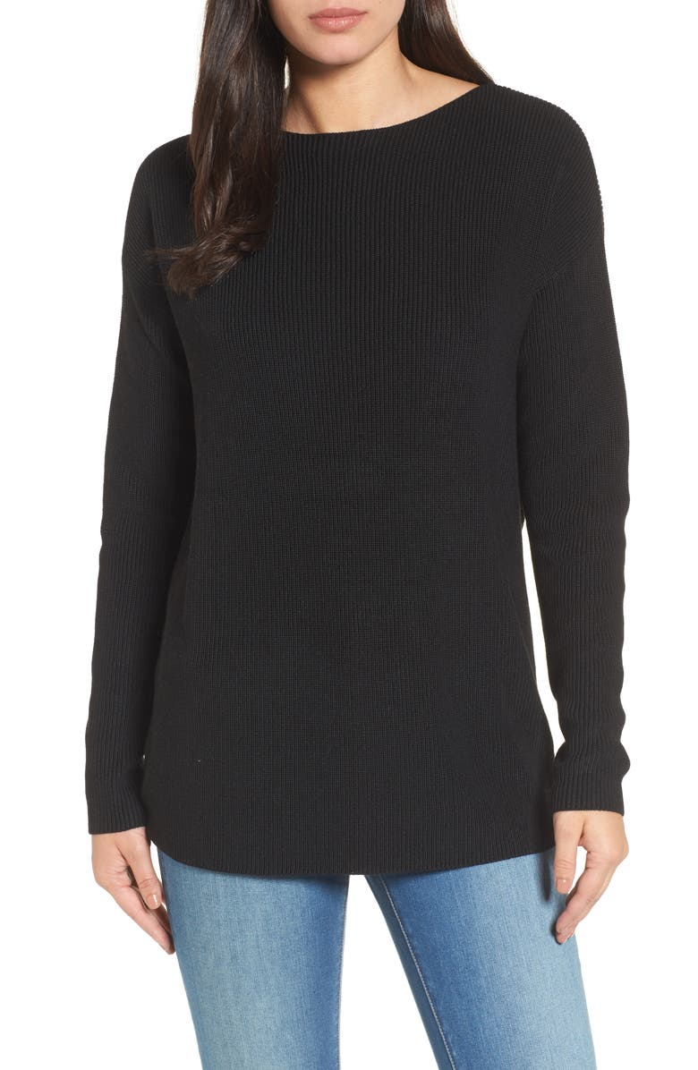 HALOGEN<SUP>®</SUP> Twist Back Sweater, Main, color, 001
