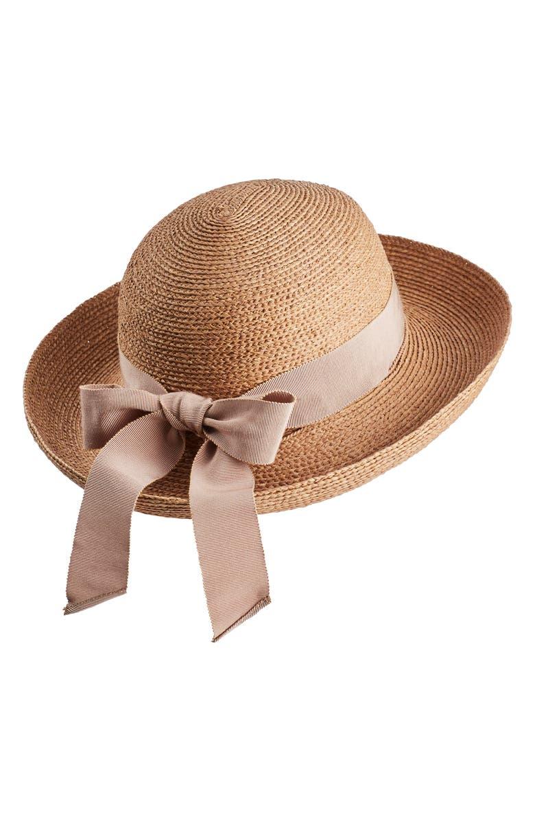 6a8ba6bf8c429e Newport Raffia Straw Hat, Main, color, NOUGAT/ LOTUS