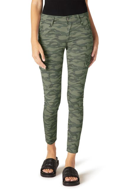 Image of Joe's Jeans Camo Print Mid Rise Utility Ankle Skinny Jeans