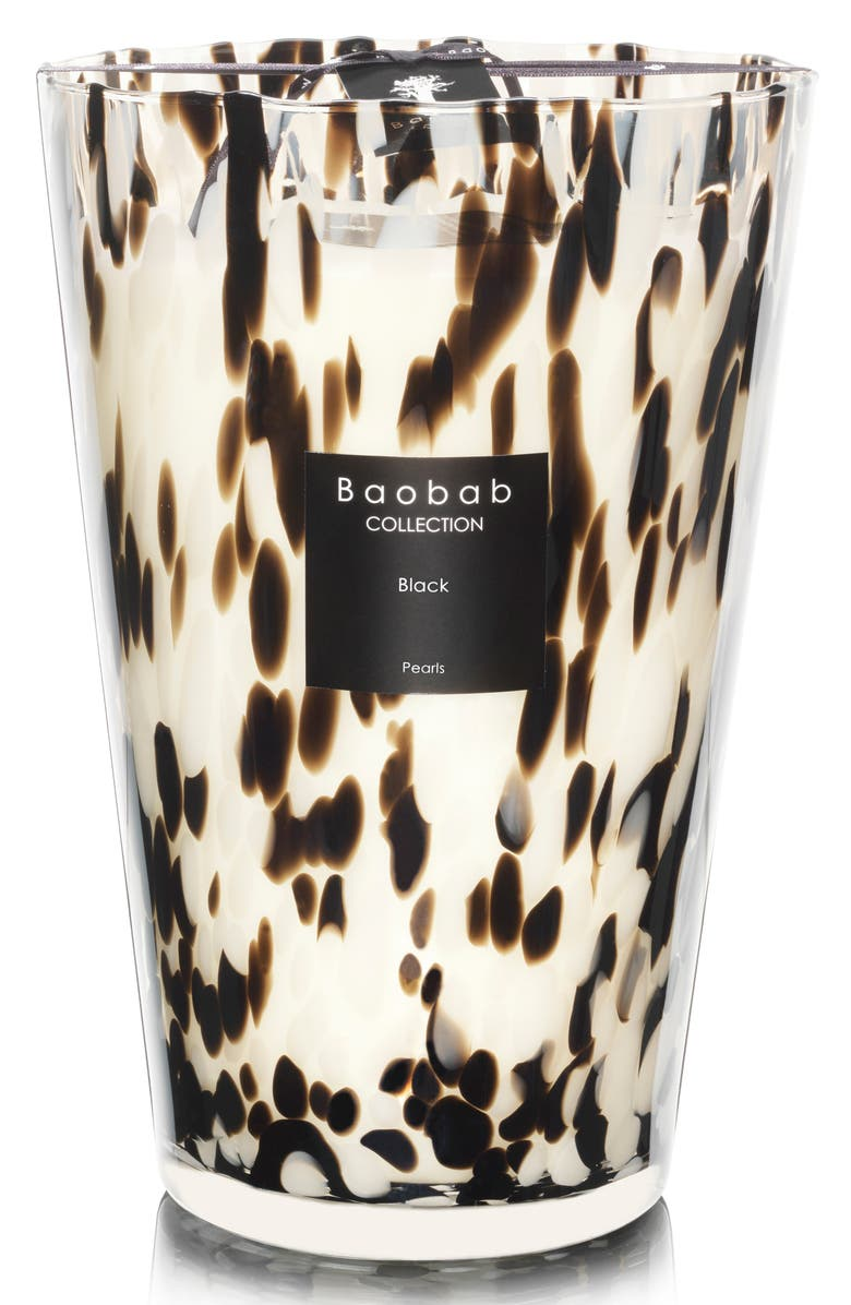BAOBAB COLLECTION Black Pearls Candle, Main, color, BLACK- EXTRA LARGE