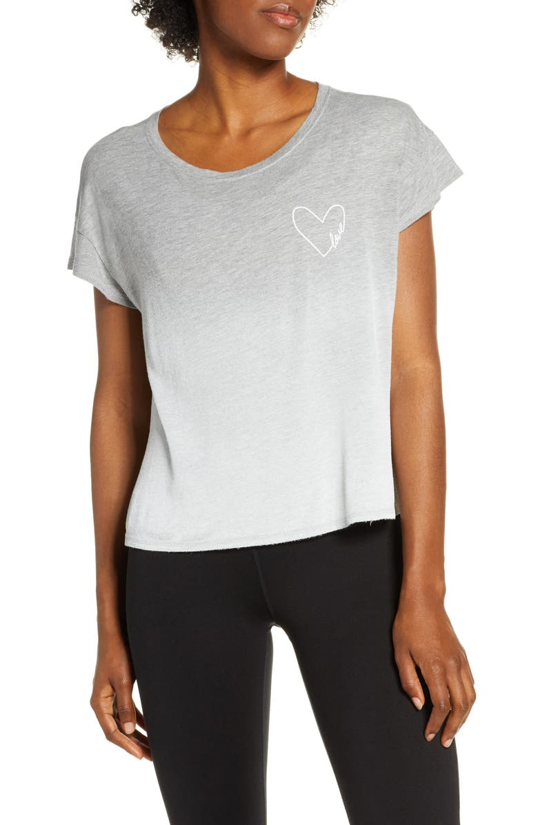 GOOD HYOUMAN Claire Love In Heart Graphic Tee, Main, color, HEATHER