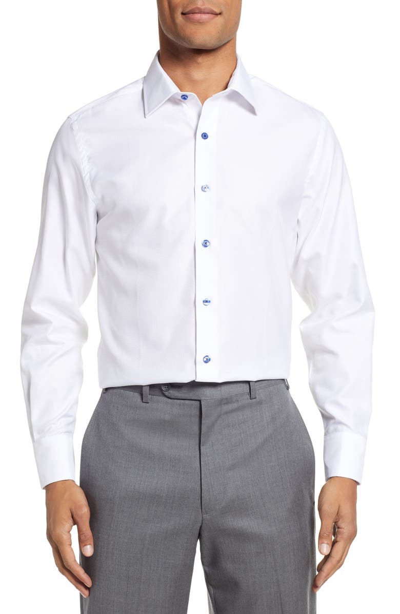 STANTT Slim Fit Geometric Dress Shirt, Main, color, 114