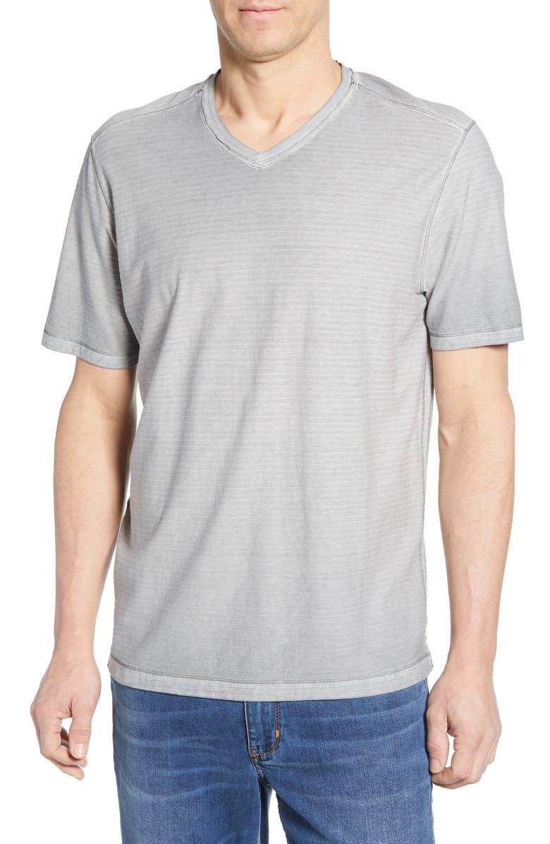 TOMMY BAHAMA Cirrus Coast V-Neck T-Shirt, Main, color, BALA SHARK