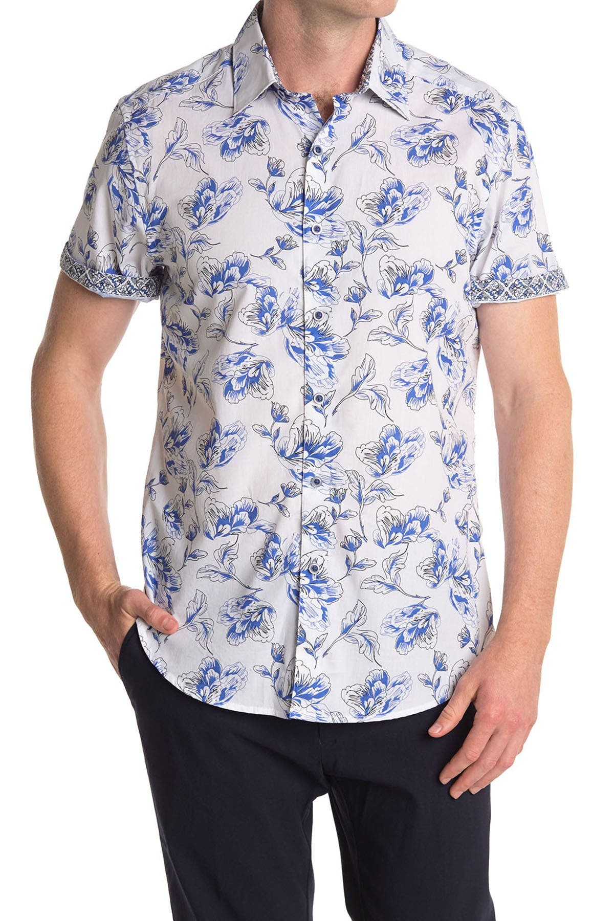 Image of Robert Graham Spencerville Floral Short Sleeve Shirt