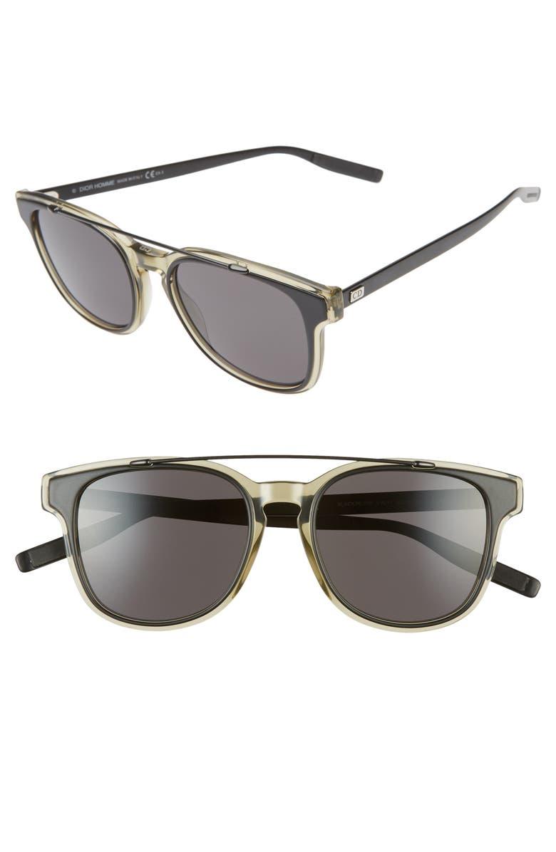 DIOR 52mm Sunglasses, Main, color, MATTE KHAKI BLACK