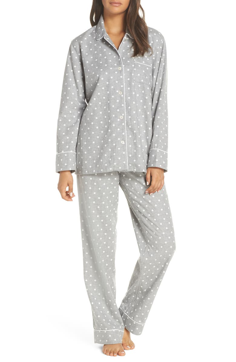 J.CREW Flannel Pajamas, Main, color, 023