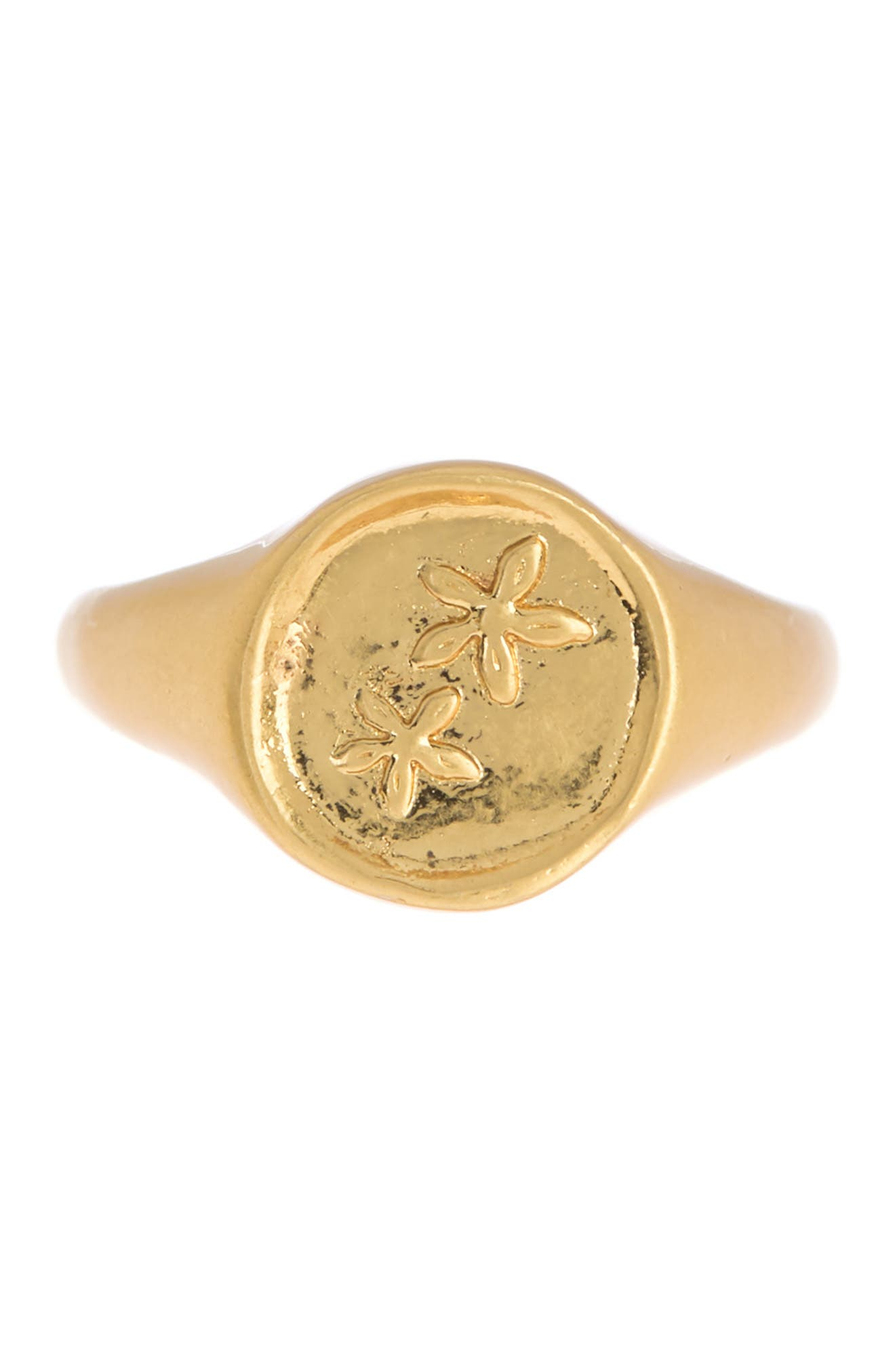 Image of Madewell Flower Signet Ring