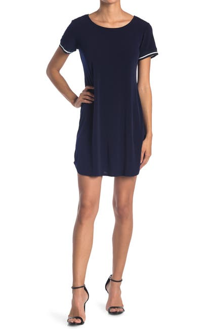 Image of TASH + SOPHIE Piped Trim T-Shirt Dress
