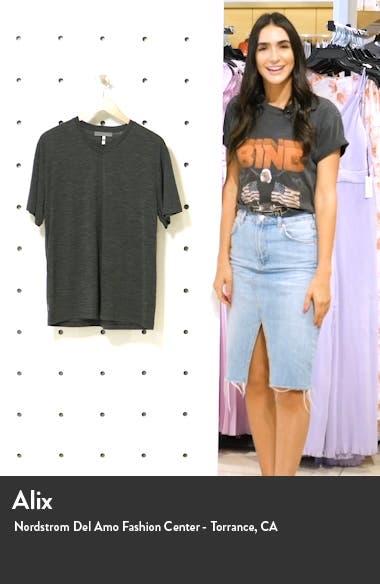 Ravyn V-Neck Wool Blend T-Shirt, sales video thumbnail