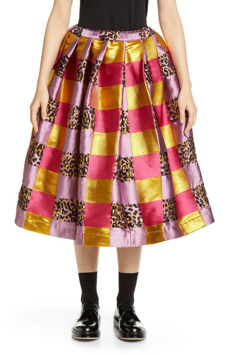 COMME DES GARÇONS Floating Jacquard Full Skirt, Main, color, PINK/ GOLD