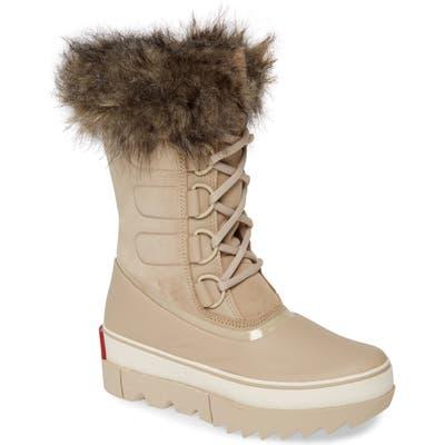 Sorel Joan Of Arctic Next Faux Fur Waterproof Snow Boot, Beige