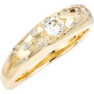 Ela Rae White Zircon Star Ring