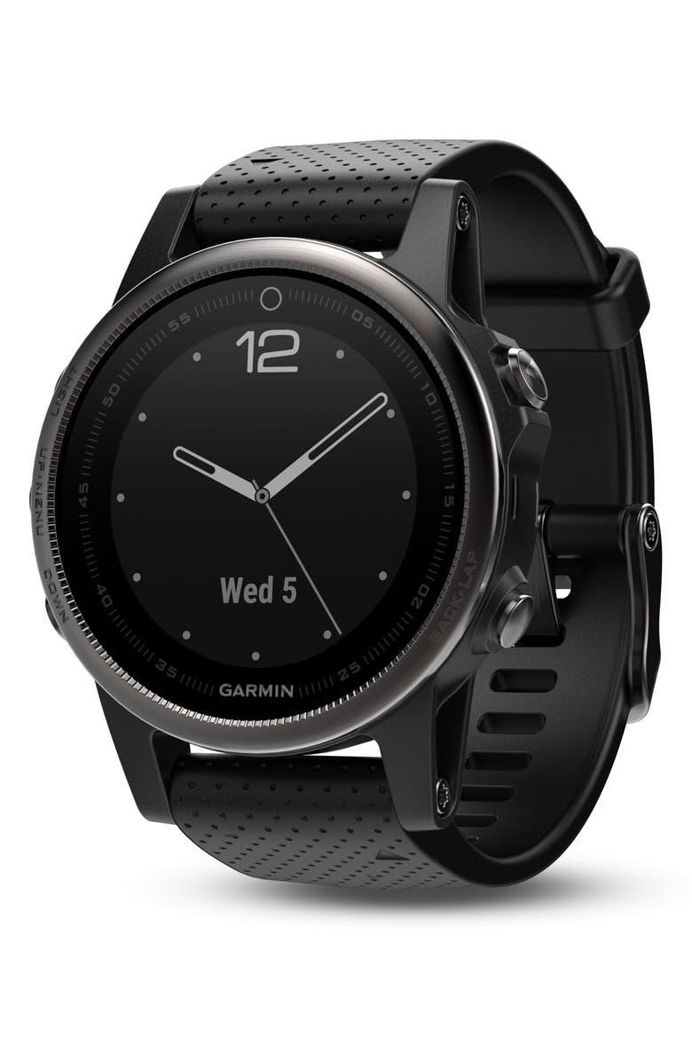 GARMIN fenix<sup>®</sup> 5S Sapphire Premium Multisport GPS Watch, 42mm, Main, color, 001