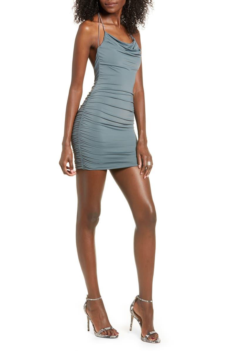 TIGER MIST Reese Body-Con Minidress, Main, color, STEELE