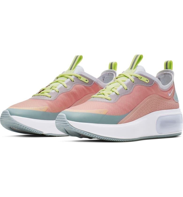 NIKE Air Max Dia SE Running Shoe, Main, color, CORAL/ OCEAN/ LUMINOUS GREEN