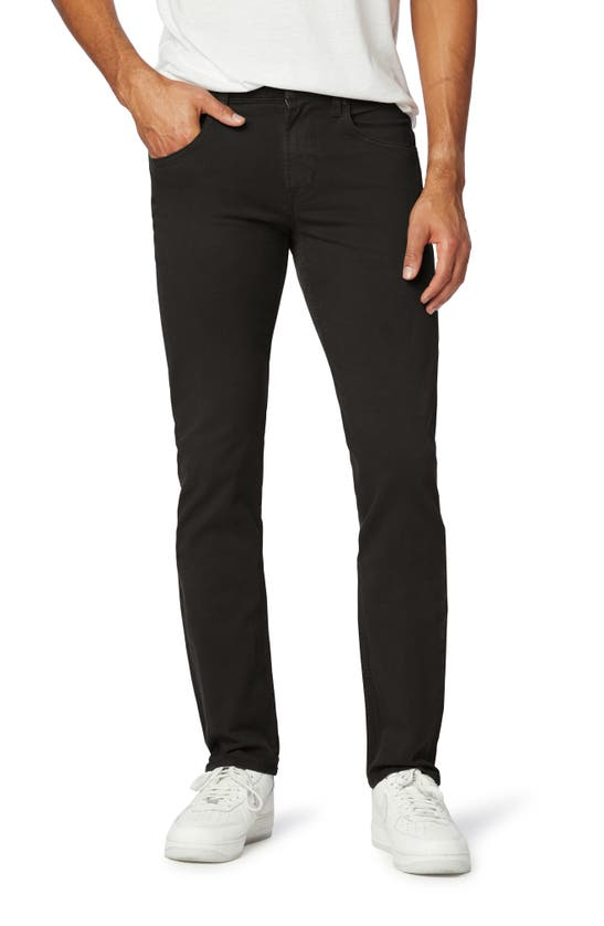 Hudson Blake Slim Straight Fit Stretch Jeans In Black