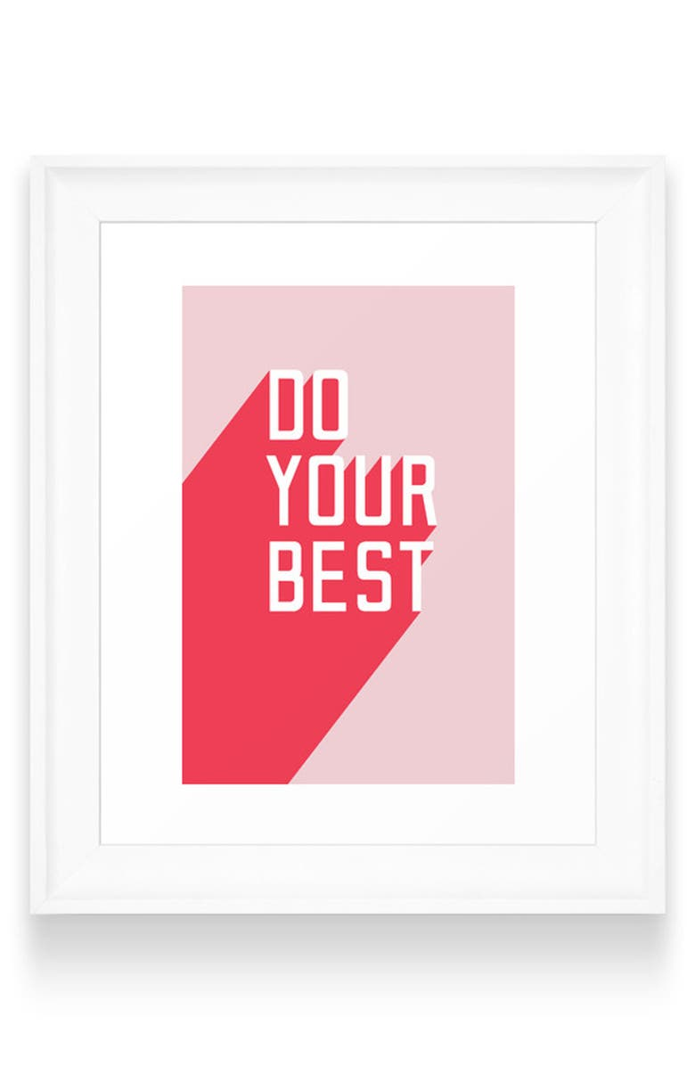 DENY DESIGNS Do Your Best Art Print, Main, color, WHITE FRAME- 24X36
