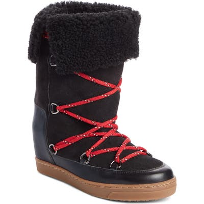 Isabel Marant Nowlsty Snow Boot, Black