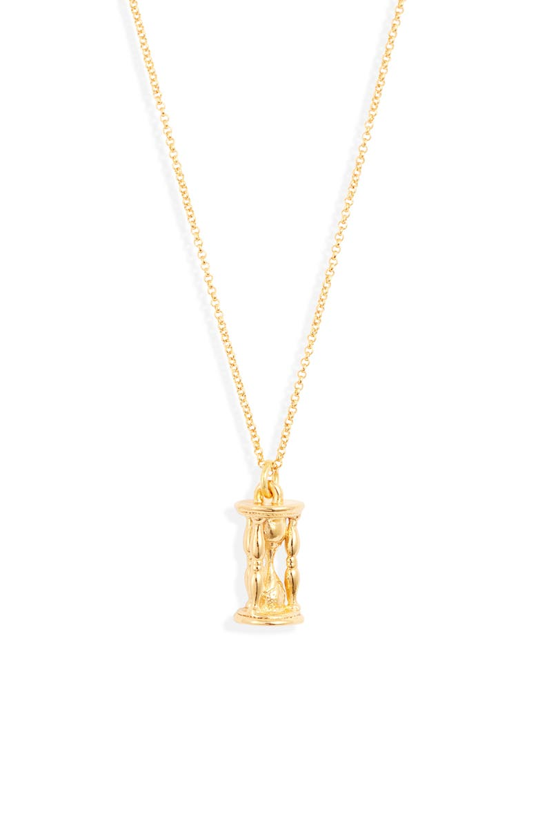 LUX DIVINE Time Pendant Necklace, Main, color, GOLD/ TIME