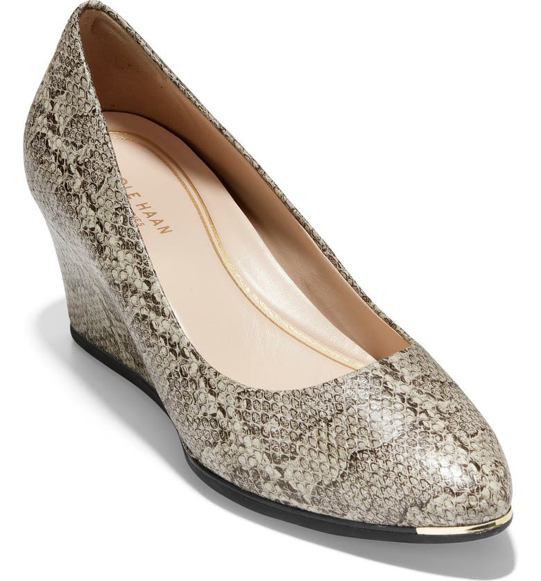 COLE HAAN Grand Ambition Wedge Pump, Main, color, NATURAL SNAKE PRINT LEATHER