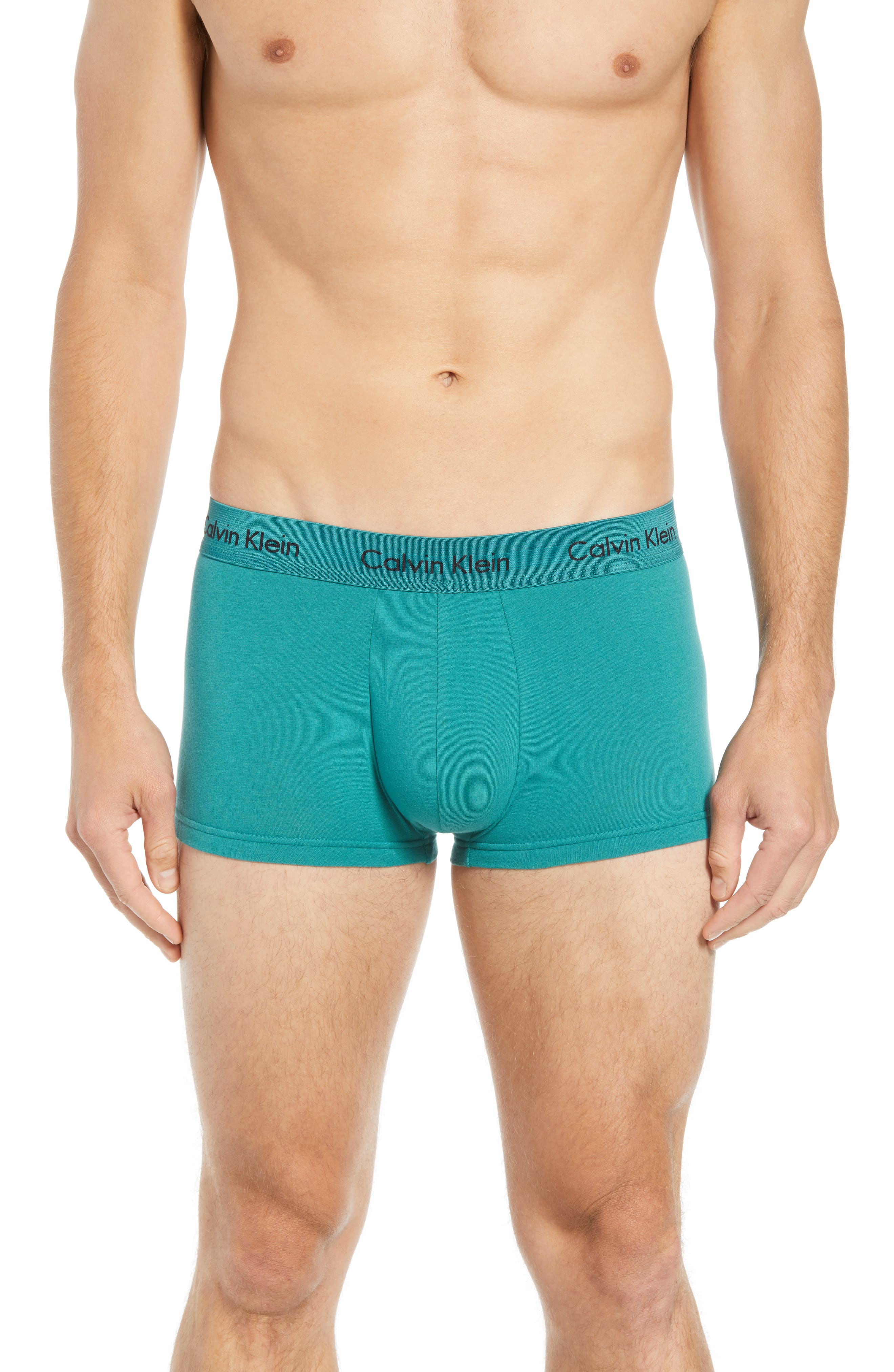 ,                             3-Pack Stretch Cotton Low Rise Trunks,                             Alternate thumbnail 134, color,                             492