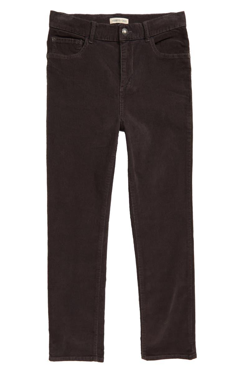 TUCKER + TATE Garment Dye Corduroy Pants, Main, color, GREY MAGNET