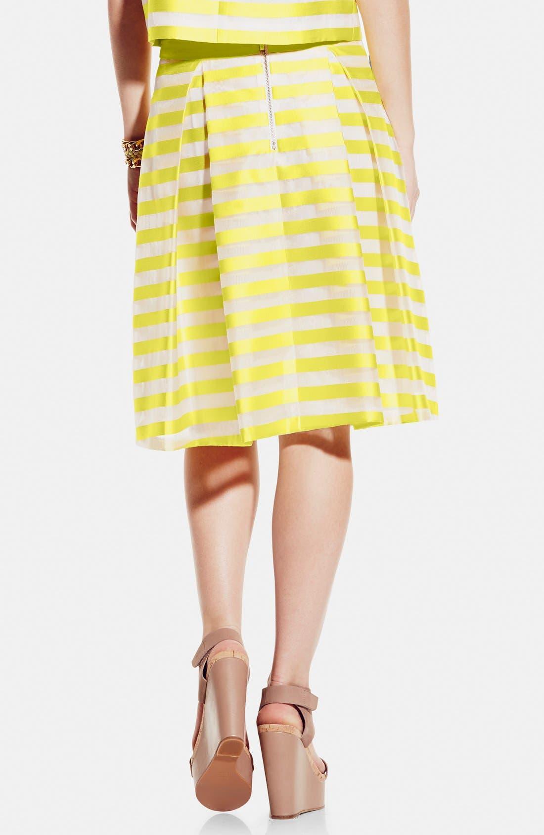 ,                             Stripe Pleat A-Line Skirt,                             Alternate thumbnail 2, color,                             701
