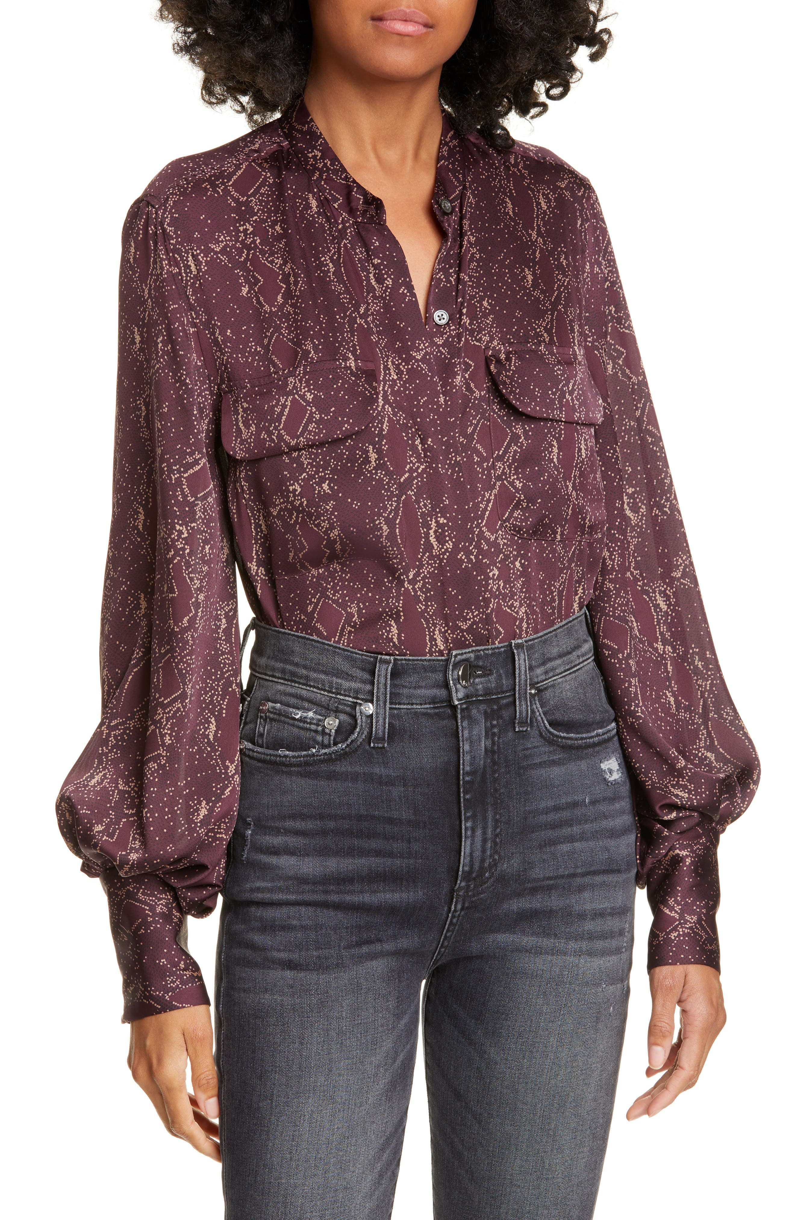 Image of Equipment Helaine Printed Blouse
