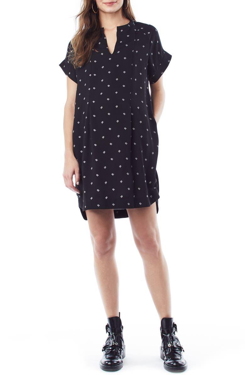 LOYAL HANA Cybelle Maternity/Nursing Shirtdress, Main, color, BRANCHES