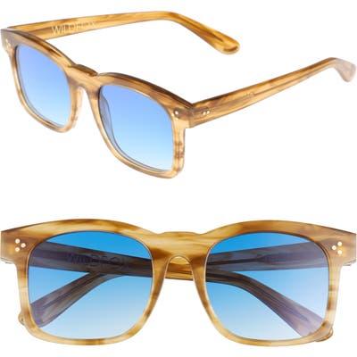 Wildfox Gaudy Zero 51Mm Flat Square Sunglasses - Sierra Tortoise
