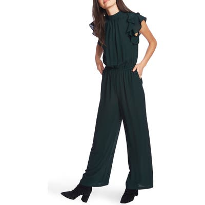 1.state Flutter Sleeve Jumpsuit, Green
