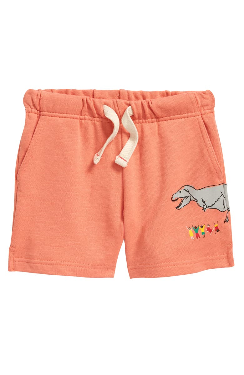TUCKER + TATE x Smithsonian Kids' Easy Print Shorts, Main, color, CORAL APPLE DINOSAUR