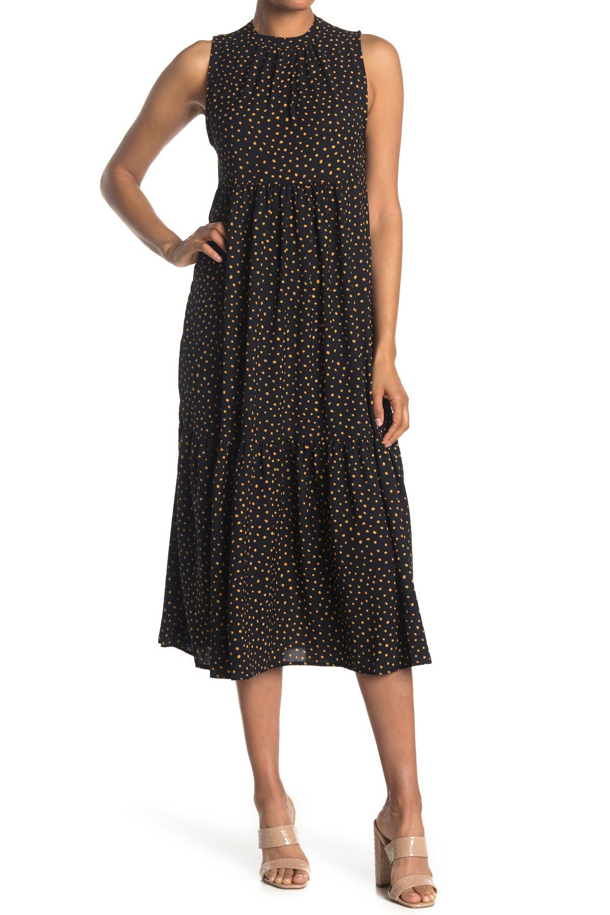 Image of Velvet Torch Sleeveless Tiered Maxi Dress