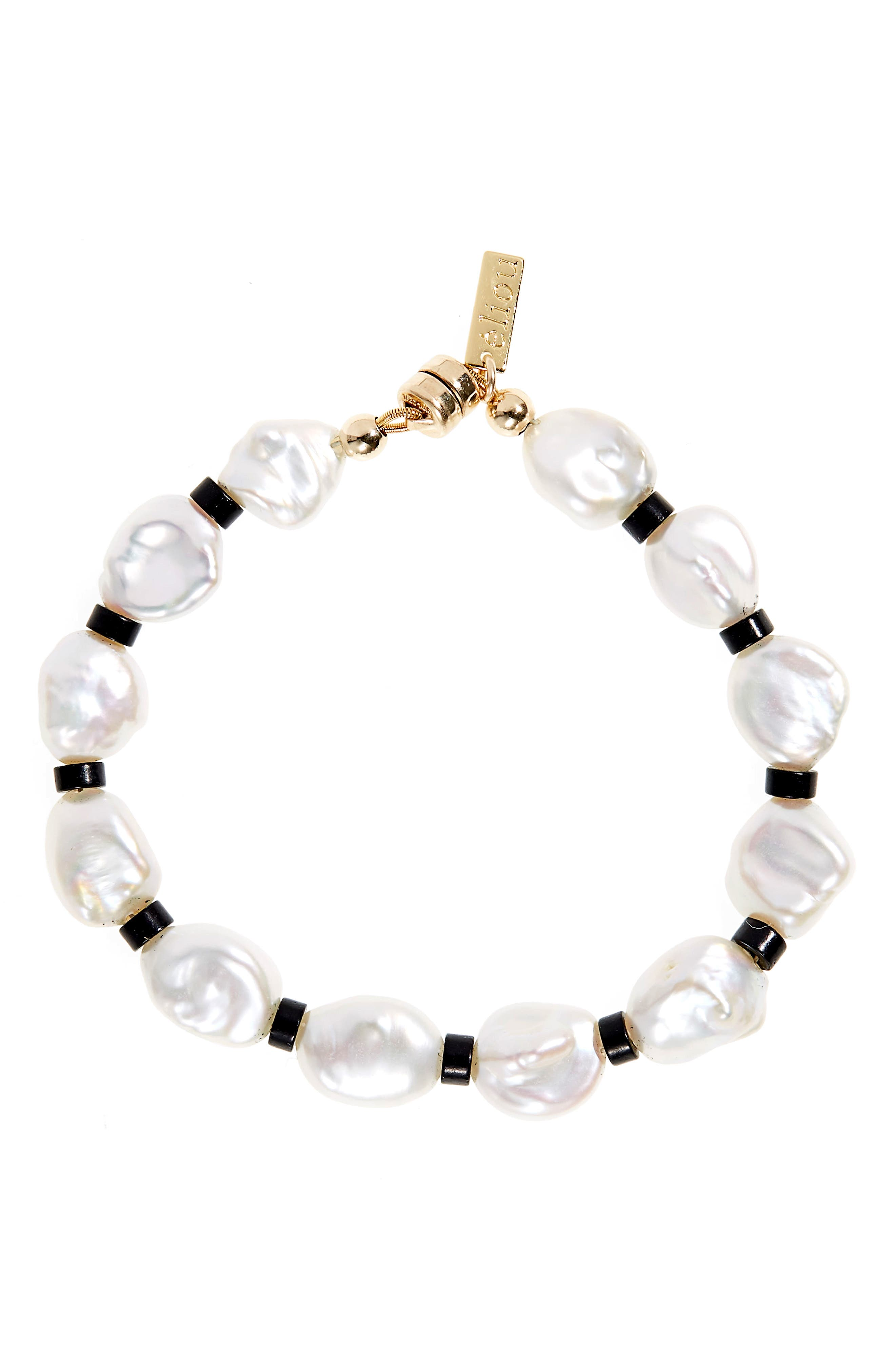 Women's Eliou Dax 2 Bead & Baroque Pearl Bracelet