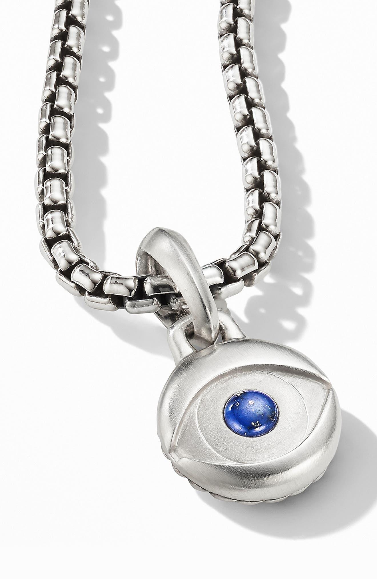 ,                             Evil Eye Amulet with Lapis Lazuli,                             Alternate thumbnail 3, color,                             SILVER/ LAPIS LAZULI