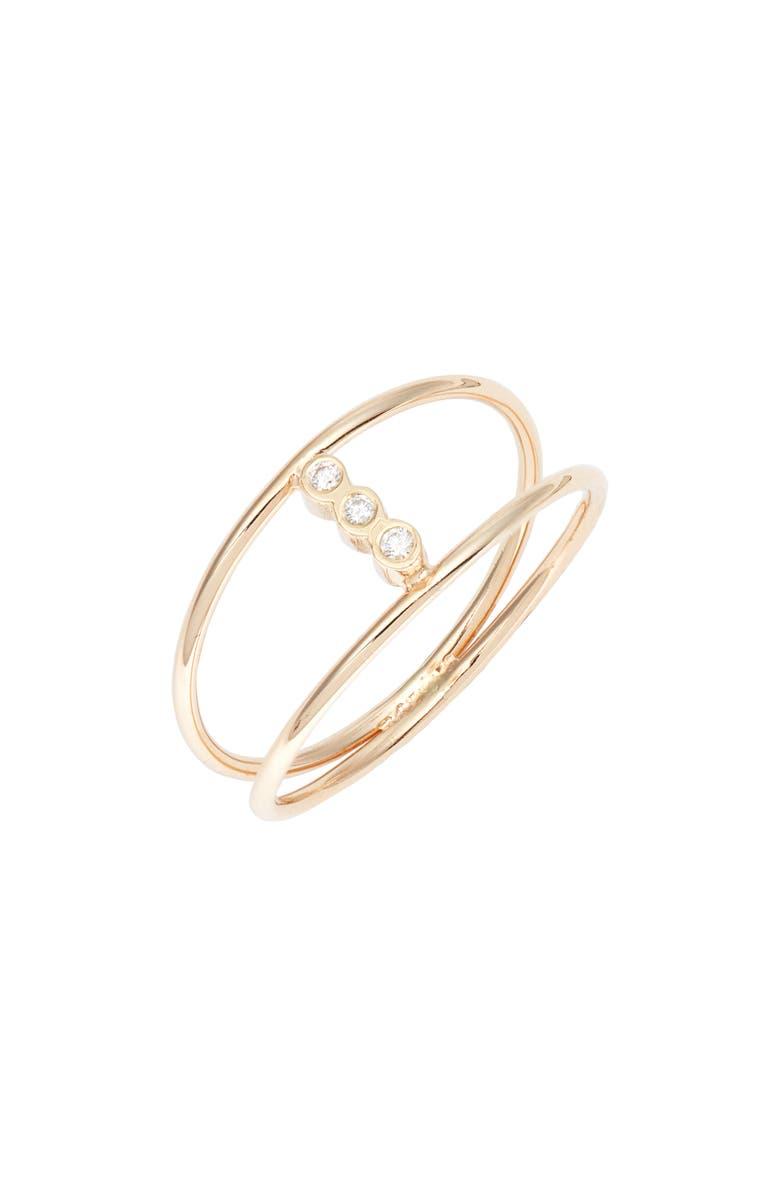 ZOË CHICCO Diamond Openwork Ring, Main, color, GOLD/ DIAMOND