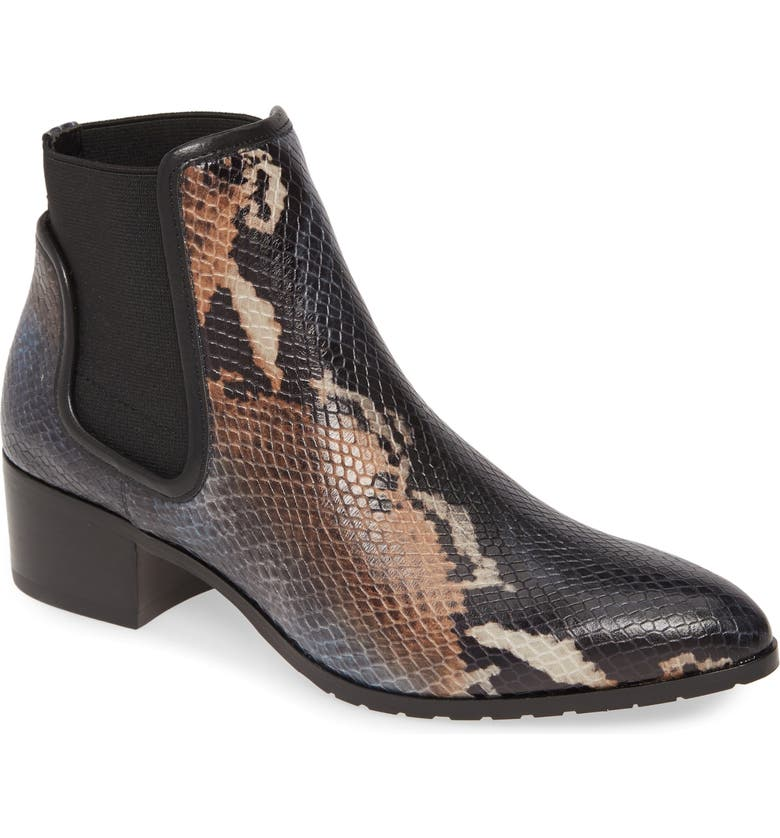 DONALD PLINER Dyla Bootie, Main, color, NAVY LEATHER